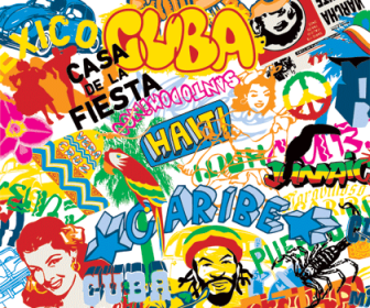 Pop Culture Movement and The Street Element Vector Graphic