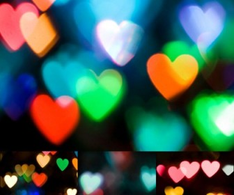 22 Heart Shaped Bokeh Photos