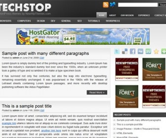 Free WordPress Theme - Tech Stop