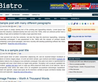 Free WordPress Theme - Bistro