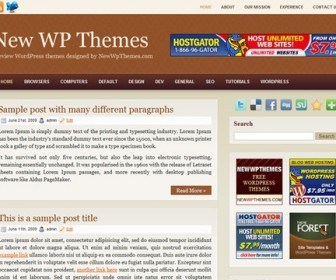 Free WordPress Theme - Browny