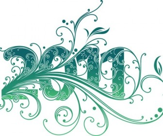 2011 New Year Swirl Design Vector Graphic