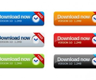 Download Button Set PSD