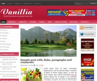 Free WordPress Theme - Vanillia