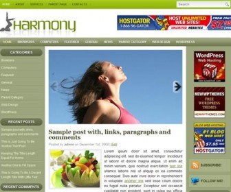 Free WordPress Theme - Harmony