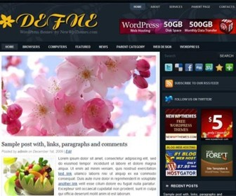 Free WordPress Theme - Defne