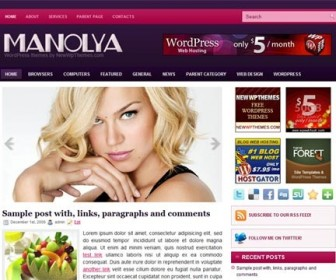Free WordPress Theme - Manolya