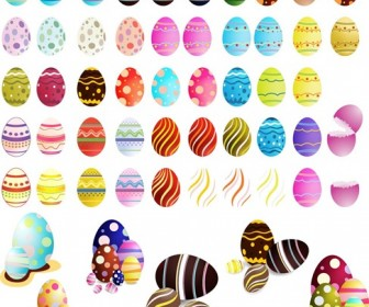 Easter Eggs Vector Set