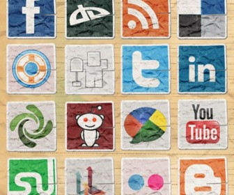 17 Free Vintage Social Media Icons for Bloggers