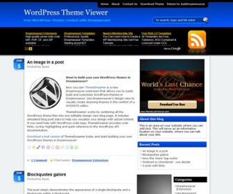 Free WordPress Theme - AdSensation Blue