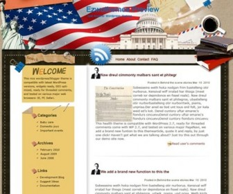 Free WordPress Theme - Star Spangled Banner