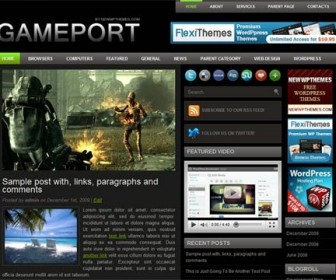Free WordPress Theme - Gameport