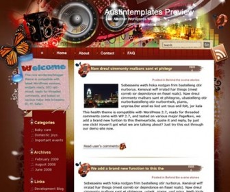 Free WordPress Theme - Listen to Austin