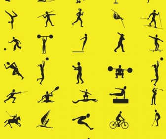 Free Vector Sport Silhouettes Collection