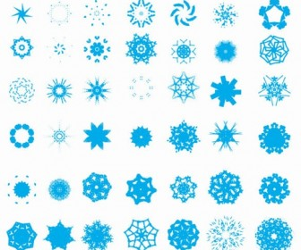 Free Snowflake Vector Set