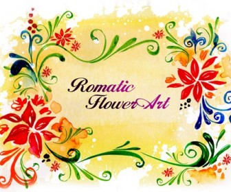 Romantic Flower Art Photoshop Template