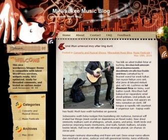 Free WordPress Theme - Melody