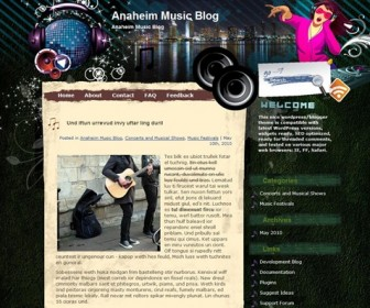 Free WordPress Theme - Musik