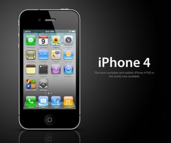 Apple iPhone 4 PSD