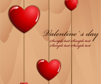 Valentine's Day Love Card Vector