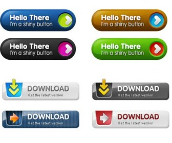 Web Button Set PSD