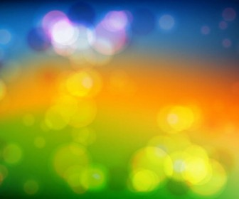 Colored Bokeh Vector Background
