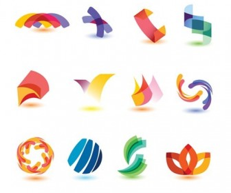 Abstract Colorful Design Elements Vector Set