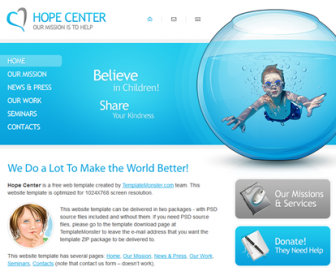 Free Charity Website Template HTML5