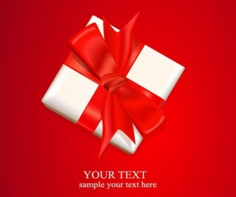 Gift Top View Vector Background