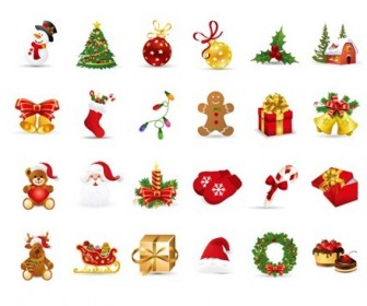 Christmas Elements Vector Set