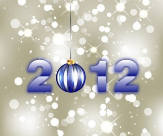 New Year 2012 Free Vector