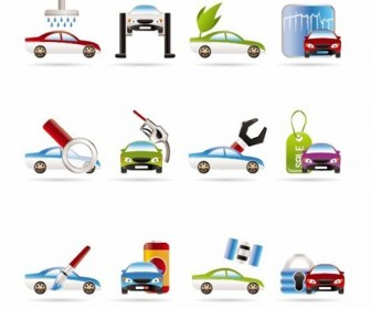 Car Services Vector Icons