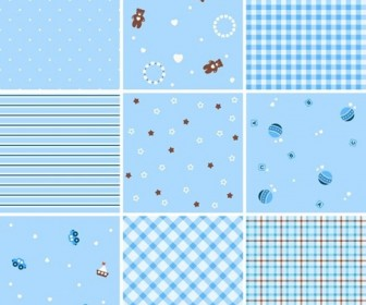 Collection of Seamless Plaid Patterns Vector Background
