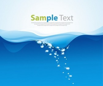 Blue Water Wave Vector Illustration