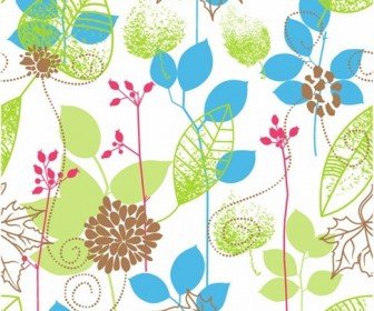 Seamless Floral Design Vector Background