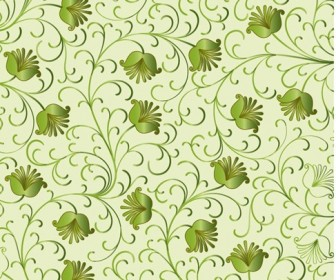 Green Floral Background Vector