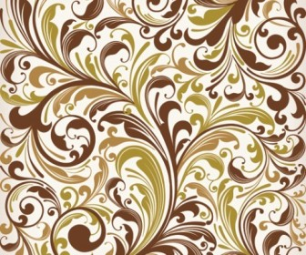 Floral Swirl Vector Art