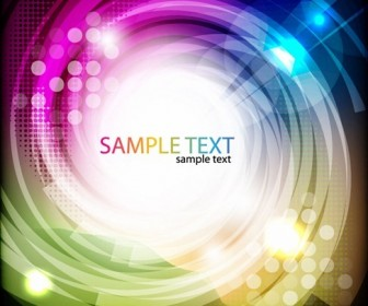 Abstract Colored Swirl Vector Background