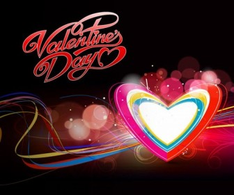 Abstract Colorful Hearts Background Vector Illustration