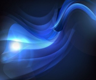 Abstract Blue Waves Vector Background
