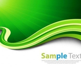 Abtsract Green Waves Vector Background