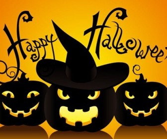 Halloween Vector Illustration Background