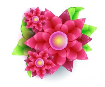 Free Abstract Vector Flower