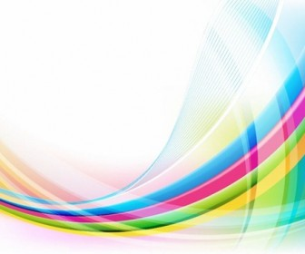 Abstract Colorful Wave Vector Illustration