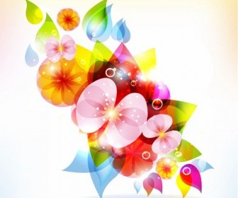 Abstract Colorful Design Floral Vector Graphic