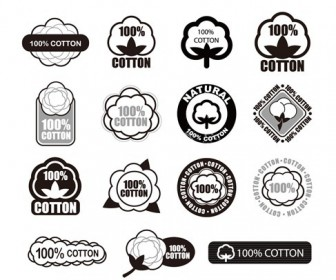 Cotton Logo Vector Set