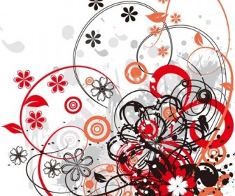 Floral Abstract Vector Background Graphic