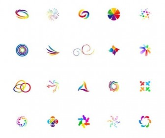 Colorful Vector Icon Set for Logo Design