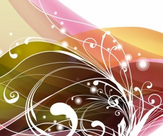 Swirly Floral Abstract Background Vector Graphic