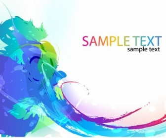 Abstract Colorful Paint Ink Splashes Background